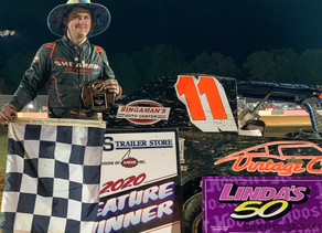 Shearer Wins Modified 50; Perchak inches closer to history
