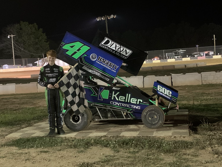 Rumsey from 11th to win 600 Micro Sprints; Erb wins thrilling stock car event
