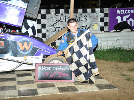 Karl Miller Tribute race to Ginther; Dove first time Charger Winner