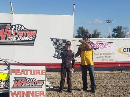 Gaudreau stars in Williston Basin Speedway fair racing