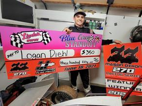 Diehl wins Mason Dixon Series; Bewely & Carraghan Score wins