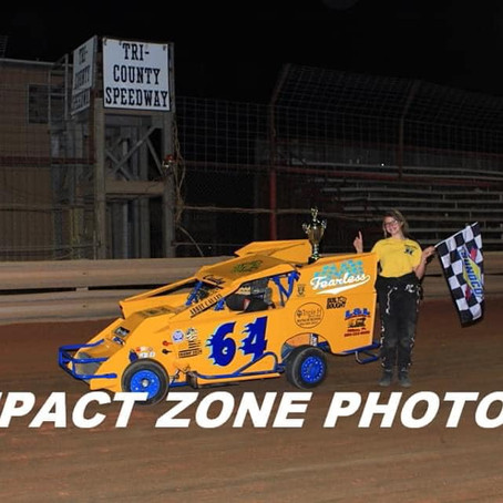 Tri-County Speedway win the Abbey Cauley