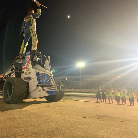 "Drevicki ""Living the Dream"" in Speedstr Double Header Sweep"