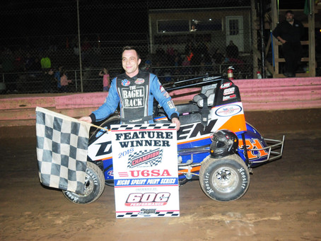 Buckwalter 600 Micro Sprint Winner; TK & Carrahgan repeat Hollenbach in Charger Opener
