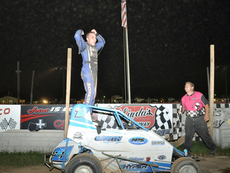 Buckwalter Doubles on Action Track Takeover Night