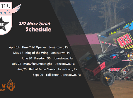 Changes to Time Trial Series Schedule