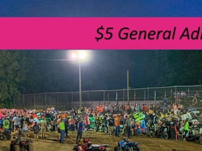 Linda's Speedway Grandstand Admission will remain $5
