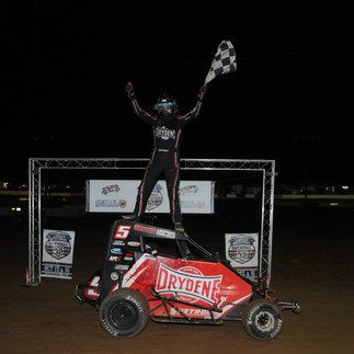 Alex Ruppert runs the table to win National Open 32 for 600 Micro Sprints