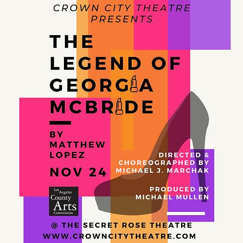 Georgia McBride Dec. 27,  28 @ 8 pm and Dec. 29 @ 3 pm