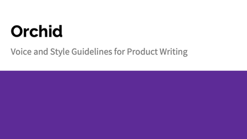 Content Styleguide for Orchid.com