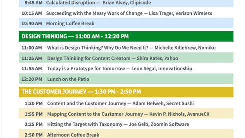 Design Thinking for Content Creators: IDW Conference Speaker Lineup