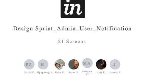 Design Sprint  - Admin Panel and Notifications