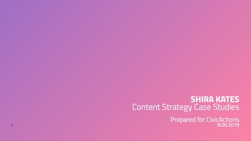 Content Design Case Studies