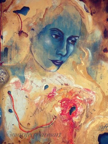 Blue woman or Workings of the heart( Mujer azul o los Mecanismos del corazón)