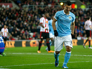 Aguero strike enough to see off Black Cats
