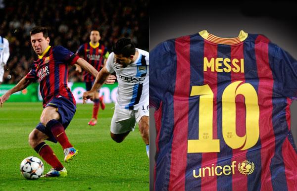 Camiseta de Messi Liga de Campeones