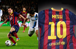 Messi´s jersey - Champion´s League