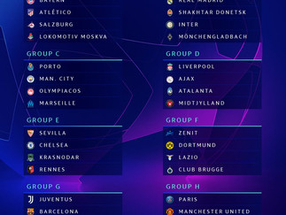 City drawn in Champions League Group C