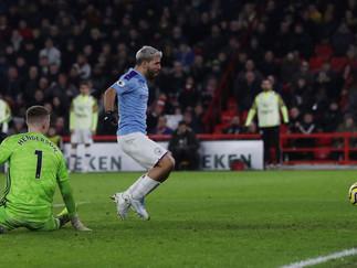 Aguero goal downs Sheffield United