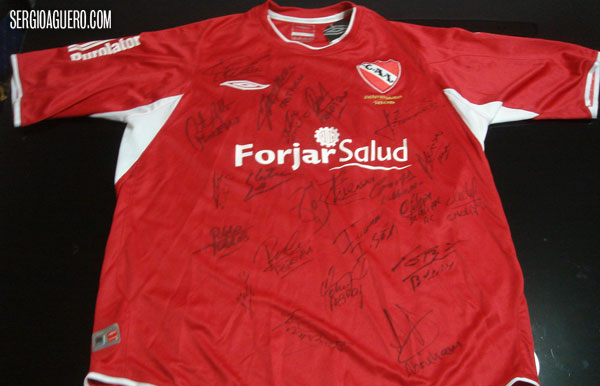 The Red Jersey, Signed