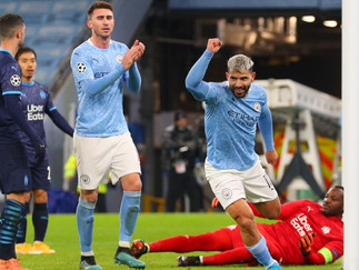 Aguero marks return in style as City cruise home