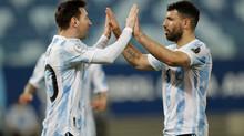 Kun joins Argentina's 100 Club