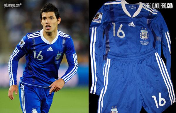 Camiseta de Argentina contra Grecia