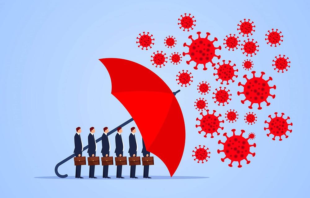 covid,safe,shielded,umbrella,business