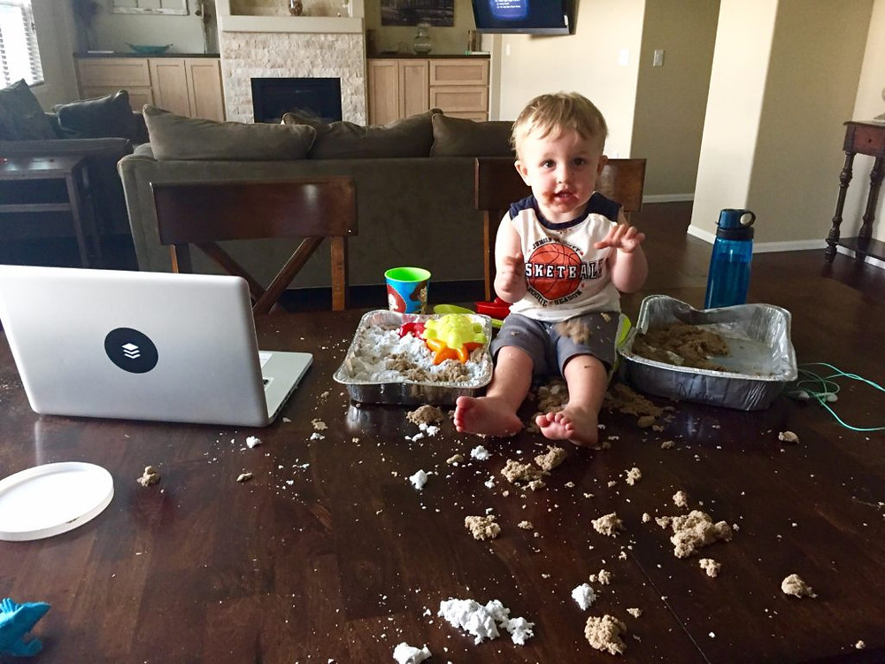 kiddo,laptop,food,bottle,couch