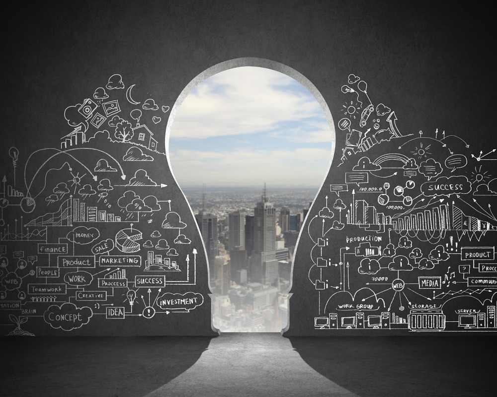 bulb,intelligent,genius,smart,maths,scribble,clouds,city