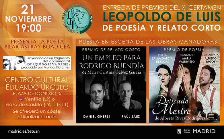 cartel Gala 2019 XI Premio de Poesía Leopoldo de Luis