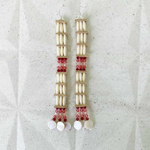 Real NDN earrings terracotta