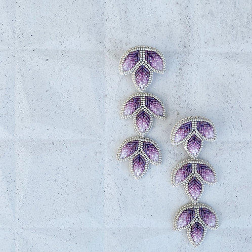 Lavender icicle earring