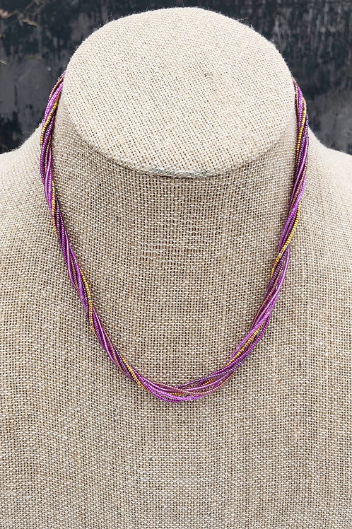 Wild Orchid Multi-Strand Necklace