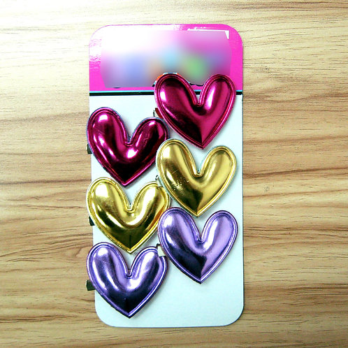Kid's Cute Heart Shape Hair Clips - S17046085