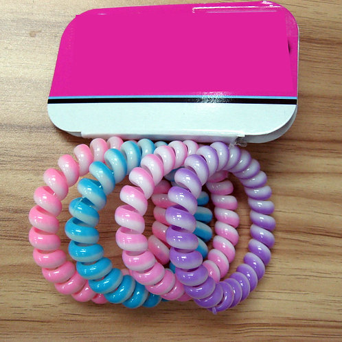 Girls Phone Cord Coil Pony Holder - S17035519