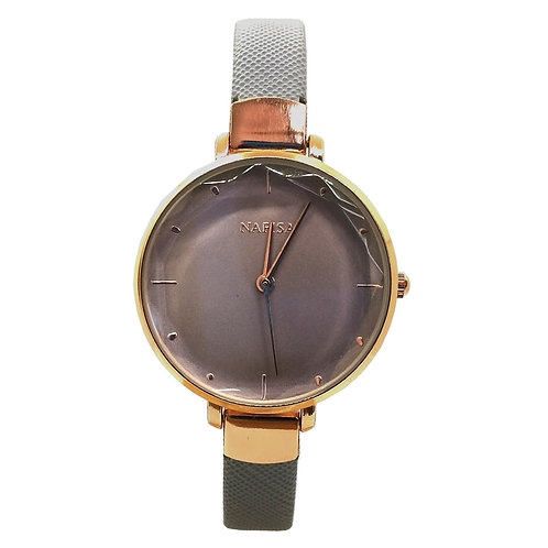 NA-0221 - Women's Elegant Style Leather Strap Wrist Watch