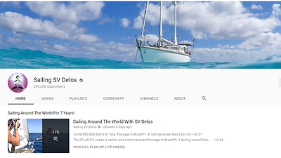 SV Delos YouTube page