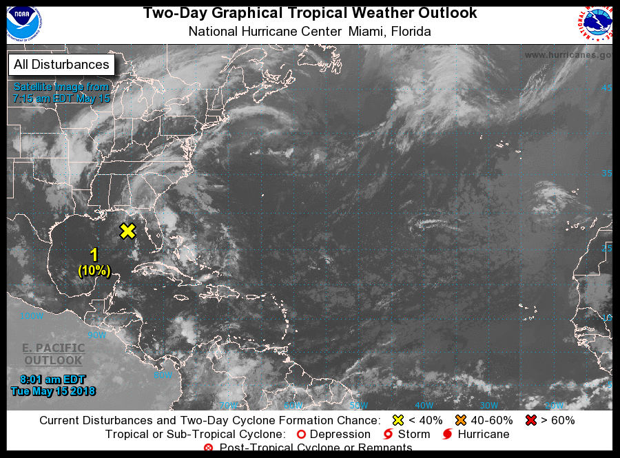 Low Pressure System over Florida May 15