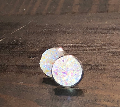DRUZY STUD - 12MM CRYSTAL
