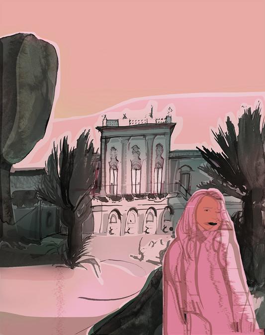 vid det rosa slottet