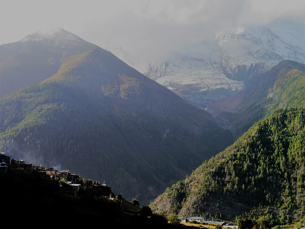Upper Pisang village, 3700 m, Manang, Nepal