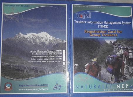 Trekking permit in Nepal