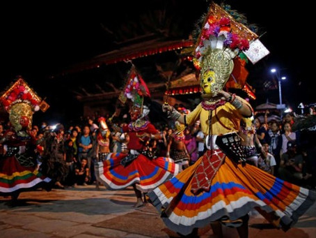 เทศกาล INDRA JATRA บูชาเทพแห่งฝน