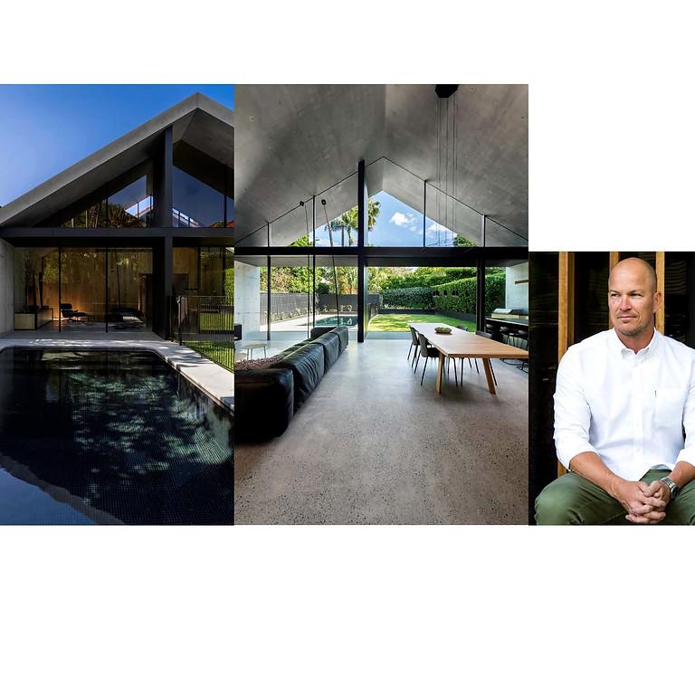 MCK Architects Principal Steve Koolloos speaking at Cosentino Showroom