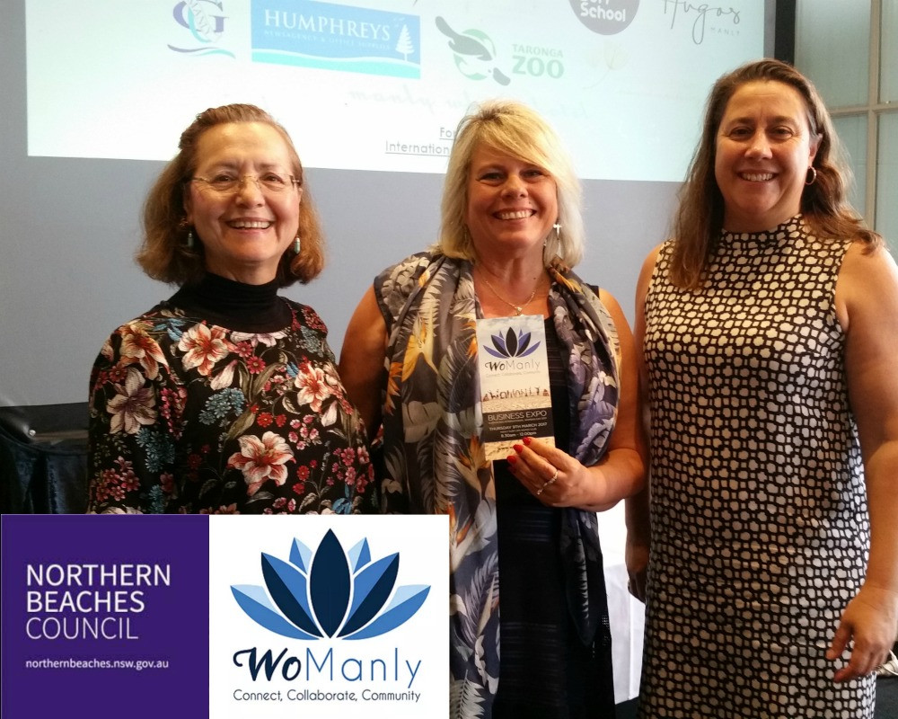 WoManly members attending the Northern Beaches Council IWD2017 brekky