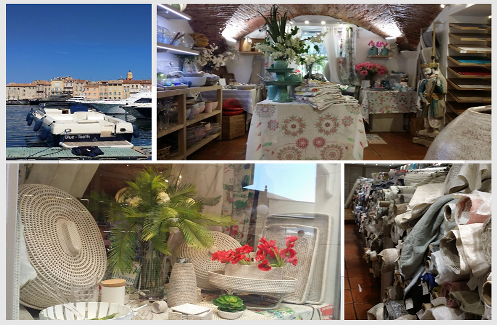 mmj architects on tour french provincial shopping in st tropez: marina, fabric, shop windows and displays