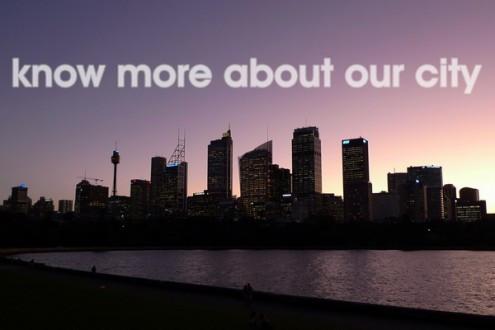 mm+j architects at Cockatoo Island - view to Sydney Harbour Bridge evening light