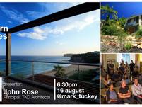 design talks @mark_tuckey *register today - the northern beaches house, TKD Architects