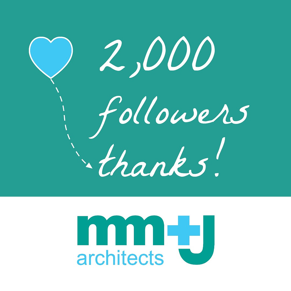 mmj architects thank you to our 2,000 instagrammers that follow us!